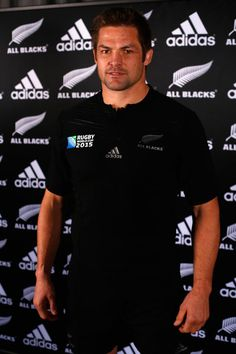 Richie Mccaw Photos Photos - All Black captain Richie McCaw wears the 2015 Rugby World Cup jersey during the New Zealand All Blacks Rugby World Cup jersey launch at The Northern Club on July 1, 2015 in Auckland, New Zealand. - New Zealand All Blacks Rugby World Cup Jersey Launch