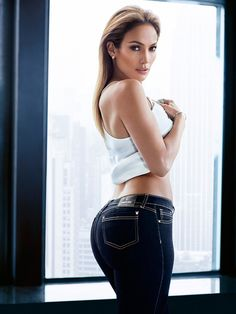 Jennifer Lopez wears denim for her J.LO by Jennifer Lopez clothing collection Photoshoot