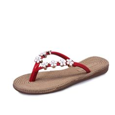 Womail Bohemia Floral Flip Flops Flip-flops Loafers Slippers Beach Sandals Shoes ** Continue to the product at the image link. (This is an affiliate link and I receive a commission for the sales)