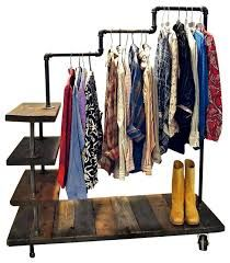 Planning & Ideas : Cool Galvanized Pipe Clothes Rack Galvanized Pipe Clothes Rack Ikea Rack' Ikea Garment Rack' Pipe Shelf plus Planning & Ideass Design Garage, Shop Front Design, Furniture Store Display, Pipe Clothes Rack, Clothes Hanger, Plan Garage, Design Art Nouveau, Galvanized Pipe, Clothing Displays