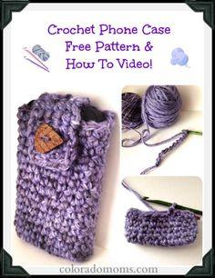 30 Stylish DIY Crochet Phone Cases --> Free Crochet Phone Case Pattern #crochet #phone_case #pattern