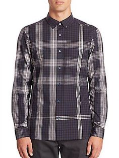 Burberry Gingham Regular-Fit Shirt