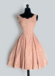 1950's Antique Lace & Pearls Dress