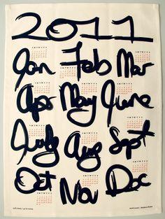 2011 Calendar Tea Towel by avrilloreti $10