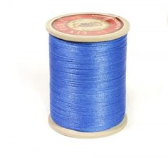 Linen Thread: Royal Blue $36.00 This is a great waxed linen thread for leather and leatherworking but also bead making, costume jewelry and even bookbinding. Check @ www.fineleatherworking.com #fineleatherworking