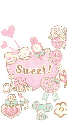 Sweet my melody My Melody Wallpaper, Sanrio Wallpaper, Hello Kitty Wallpaper, Kawaii Wallpaper, Iphone Wallpaper, My Melody Sanrio, Hello Kitty My Melody, Kawaii Background, Baby Friends