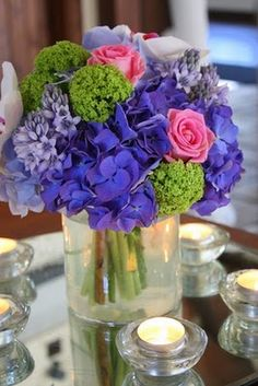 Flower Design Events: Kerry & Darren's Fabulous Royal Blue & Pink Wedding at The Great Hall at Mains