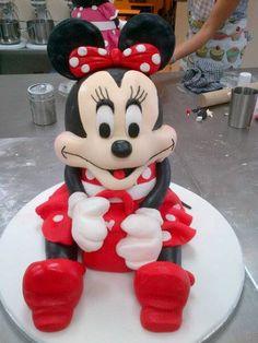 14 inch tall Minnie Mouse cake I made