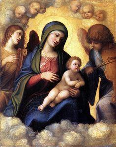 Madonna and Child in Glory Galleria degli Uffizi Firenze  #TuscanyAgriturismoGiratola
