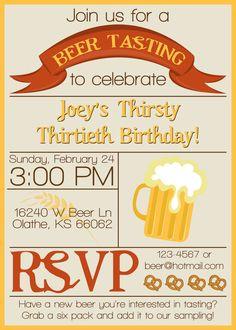 Beer Tasting Invitation BEER TASTING PARTY
