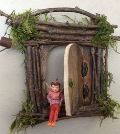 Fairy Door Each One of a Kind Handcrafted by OliveNatureFolklore #fairygardening #minijardines #falsoacabadomarmol