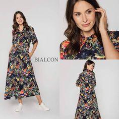 Jak Wam minął długi weekend❓  Mamy dla Was dobrą wiadomość - kolejne nowości z sezonu wiosna-lato 2020 zawitały do salonów 💃 Oto jedna z nich - Wiskozowa szmizjerka z kwiatowym printem💐  #bialcon #bialcon_brand #sukienka #kwiaty #sukienkawkwiaty #szmizjerka #elegancja #kobieta #zakupy #moda #kobieta #wzory