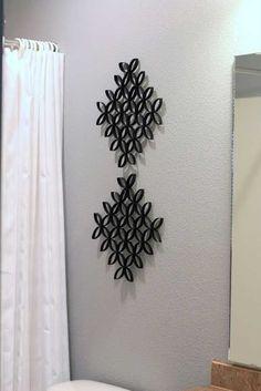 30 ideas de murales para pared hechos con rollos de papel higiénico 10