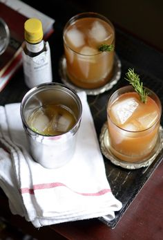 The Bourbon Bomber. Apple cider, bourbon, lemon, agave, spices, bitters. From: The Boys Club