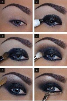 make up guide DAS perfekte Silvester Make-Up! make up glitter;make up brushes guide;make up samples; Dark Eye Makeup, Love Makeup, Skin Makeup, Beauty Makeup, Makeup Eyeshadow, Mac Makeup, Makeup Brushes, Perfect Makeup, Amazing Makeup