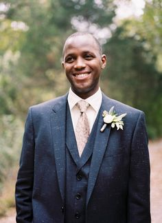 handsome suit look | Kristin Sweeting #wedding | See more about Suits, Grooms and Texture.