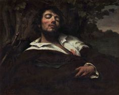 The Wounded Man : Gustave Courbet : Romanticism : self portrait - Oil Painting Reproductions Gustave Courbet, French Paintings, Romanticism, Love Painting, Painting Flowers, French Art, Art Reproductions, Les Oeuvres, Art History