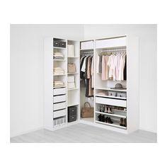 PAX Corner wardrobe, white - white 63 1/8/73 7/8x93 1/8