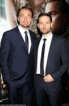 Leo and Tobey - my favorte bromance at the moment c: Leonardo Dicapro, Imaginary Boyfriend, Best Bud, The Great Gatsby, Well Dressed Men, Matching Outfits, Actors & Actresses, Stylish, Celebrities