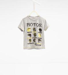 ZARA - NIÑOS - Camiseta cascos motos