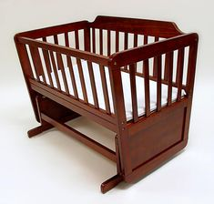 Wood Bassinet From Red Wood