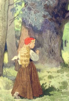 """Folklorists and cultural anthropologists such as P. Saintyves and Edward Burnett Tylor saw """"Little Red Riding Hood"""" in terms of solar myths and other naturally-occurring cycles. Her red hood could represent the bright sun which is ultimately swallowed by the terrible night (the wolf), and the variations in which she is cut out of the wolf's belly represent by it the dawn."""
