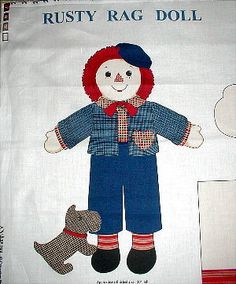 Raggedy Andy doll panel