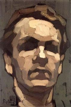 Michael Mentler. Excellent example of planes of the face and how to capture through brush marks and tone.:
