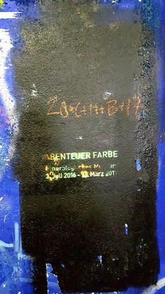 Abenteuer Farbe (Biblical Magi on the wall of an underpass at University of Würzburg).  #art #Würzburg