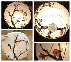 diy cherry blossom lantern diy pinterest cherry blossoms cherries and craft. Black Bedroom Furniture Sets. Home Design Ideas