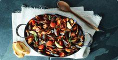 Rezept: Miesmuscheln in Tomaten-Weisswein-Sud