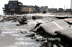Apple sues Sandy for copying Apple Maps :D