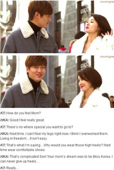 Lee Min Ho and his mom ♡ #Kdrama // The #HEIRS. lol