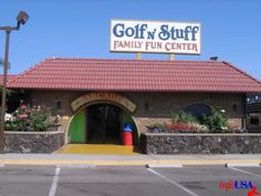 Golf N Stuff (Downey, CA). Lived for 4 1/2 years down the boulevard from this. There is a miniature golf course, arcade, place to eat, and figure-8 go-karts. 1973-1977.