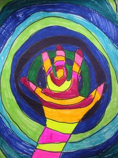 South Hills Elementary Art: Give the Lines A Hand! (3rd Grade)