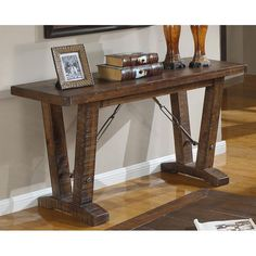 castlegate rustic sofa table by emerald home furnishings