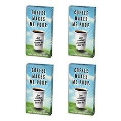 BlueQ Coffee Makes Me Poop Cinnamon Flavored Gum (4 packs per order) >>> For more information, visit image link.