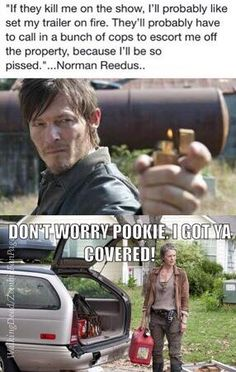 What Norman would do if they killed him off on the show.