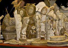 bone carvings from Alaska