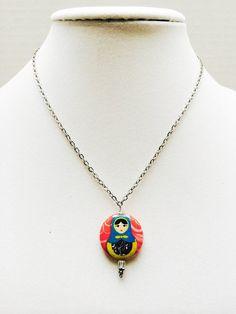 Matryoshka pendant necklace nesting doll by TheCreativeBee on Etsy