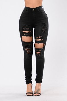 Available in Faded Black High Rise Jeans Fitted Distressed Ripped Leg Straight Leg 5 Pocket Design Cotton Rayon Rayon Spandex Cute Ripped Jeans, Faded Black Jeans, Ripped Jeans Outfit, High Waisted Distressed Jeans, Sexy Jeans, Torn Jeans, White Jeans, Cute Dresses For Party, Cute Pants