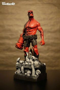 Tenacious Toys Blog: Custom Hellboy Figure by Wetworks