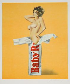 Artist: Mel Ramos   Title: Candy   Year: 1981   Medium: Lithograph, signed and numbered in pencil   Edition: 250   Paper Size: 24.5 x 20 inches