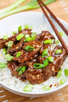 #Mongolian #Beef (This would take me longer than the 20 minutes mentioned, but it still sounds good.)
