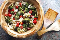 Tortellini Pasta Salad with Roasted Broccoli  | girlgonegourmet.com