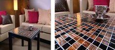 How to make a Glass tile coffee table