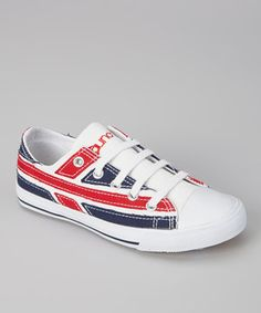 London's calling and they want their flag back! Too bad—these funky low-top sneaks are just too cool to pass up.