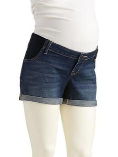 "Maternity Side-Panel The Boyfriend Denim Shorts (3 1/2"")"