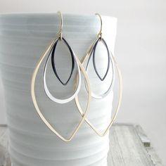Lunghi orecchini geometrici gioielli oro e argento orecchini orecchini moderno…