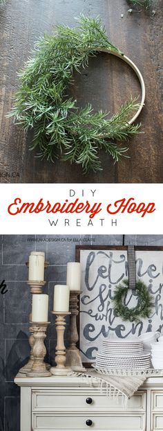 Turn an embroidery hoop into a gorgeous Christmas wreath using this tutorial!